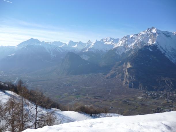 Haute Nendaz, looking towards St Bernard's Pass